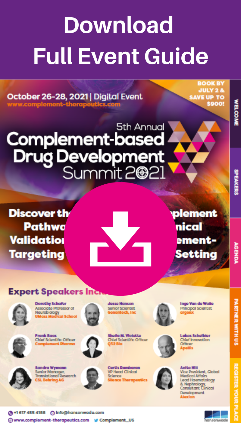 Complement-based Therapeutic Drug Development Summit - Brochure